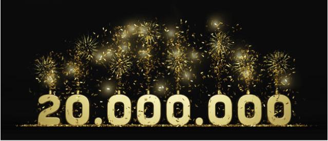 Superamos los ¡20 millones! de interacciones mensuales analizadas